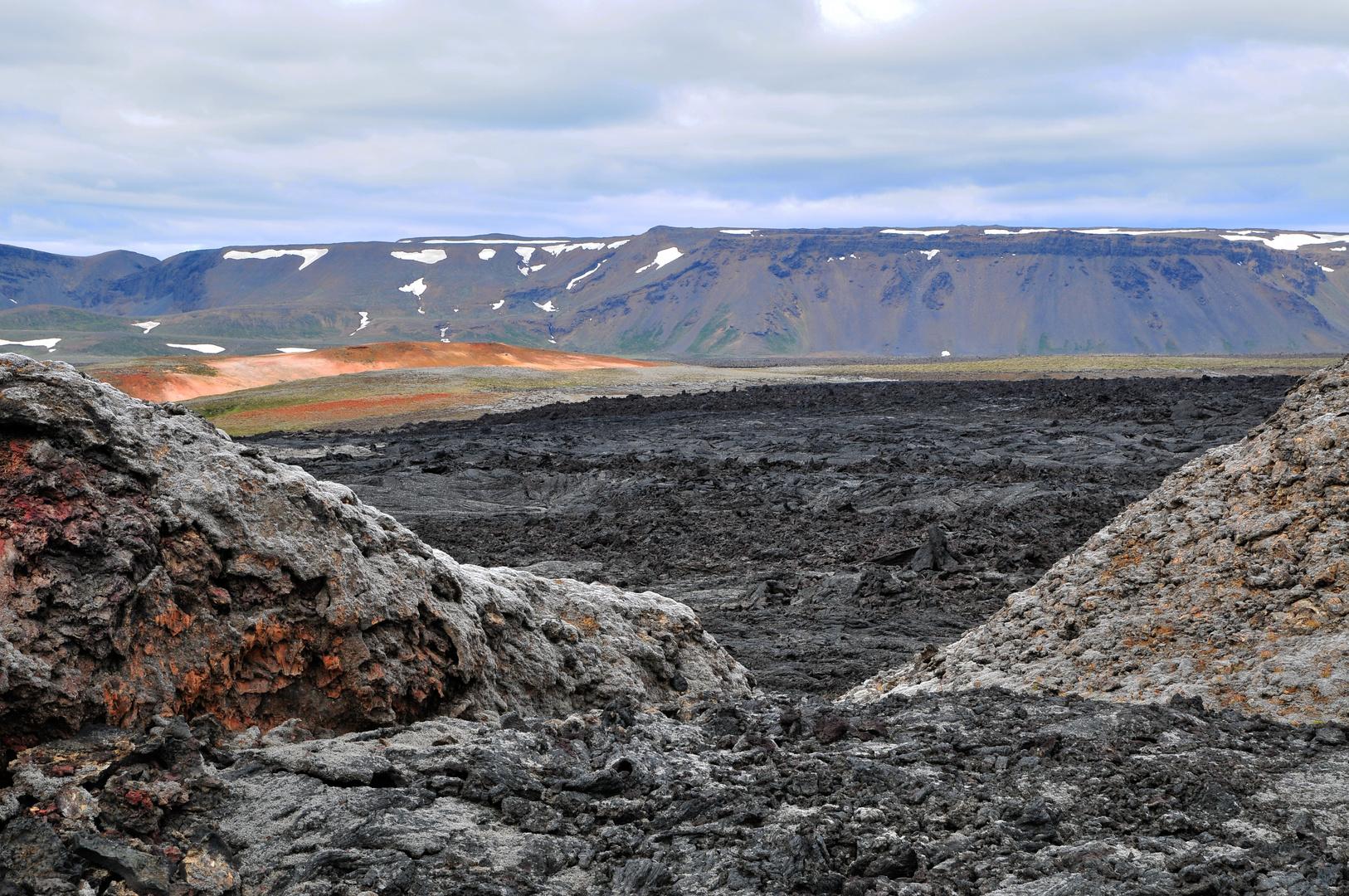 Leirhnjúkur Lava-Gebiet (Myvatn-Region) im Juli 2012