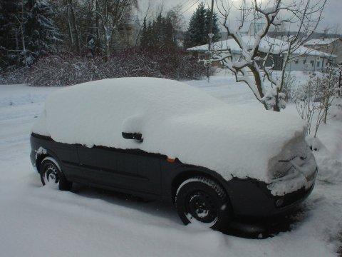 Leise rieselt der Schnee auf das Auto....