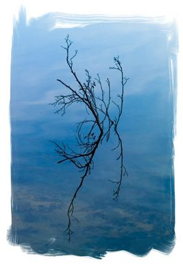 Leise zerfliesst der Himmel im Wasser