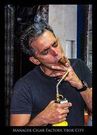 Leiter einer Zigarrenfabrik in Ybor City, Tampa Bay