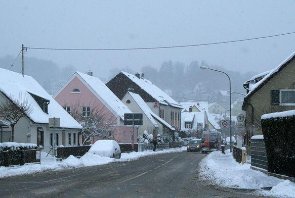 Leitershofen versinkt im Schnee