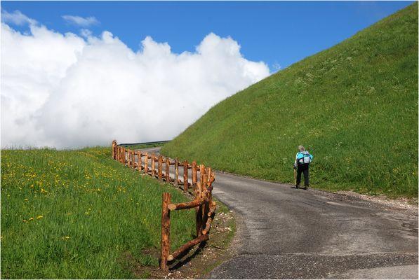 Leitplanken-Versuchsstrecke in Südtirol