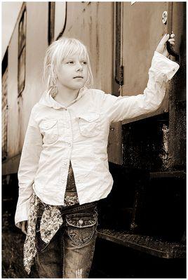 Lena at the railway