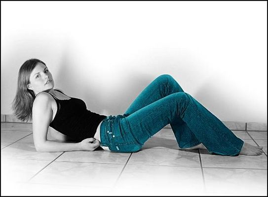 Lena in Blue Jeans