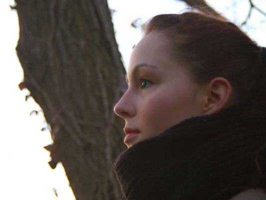 Lena M. bei Wintersonne