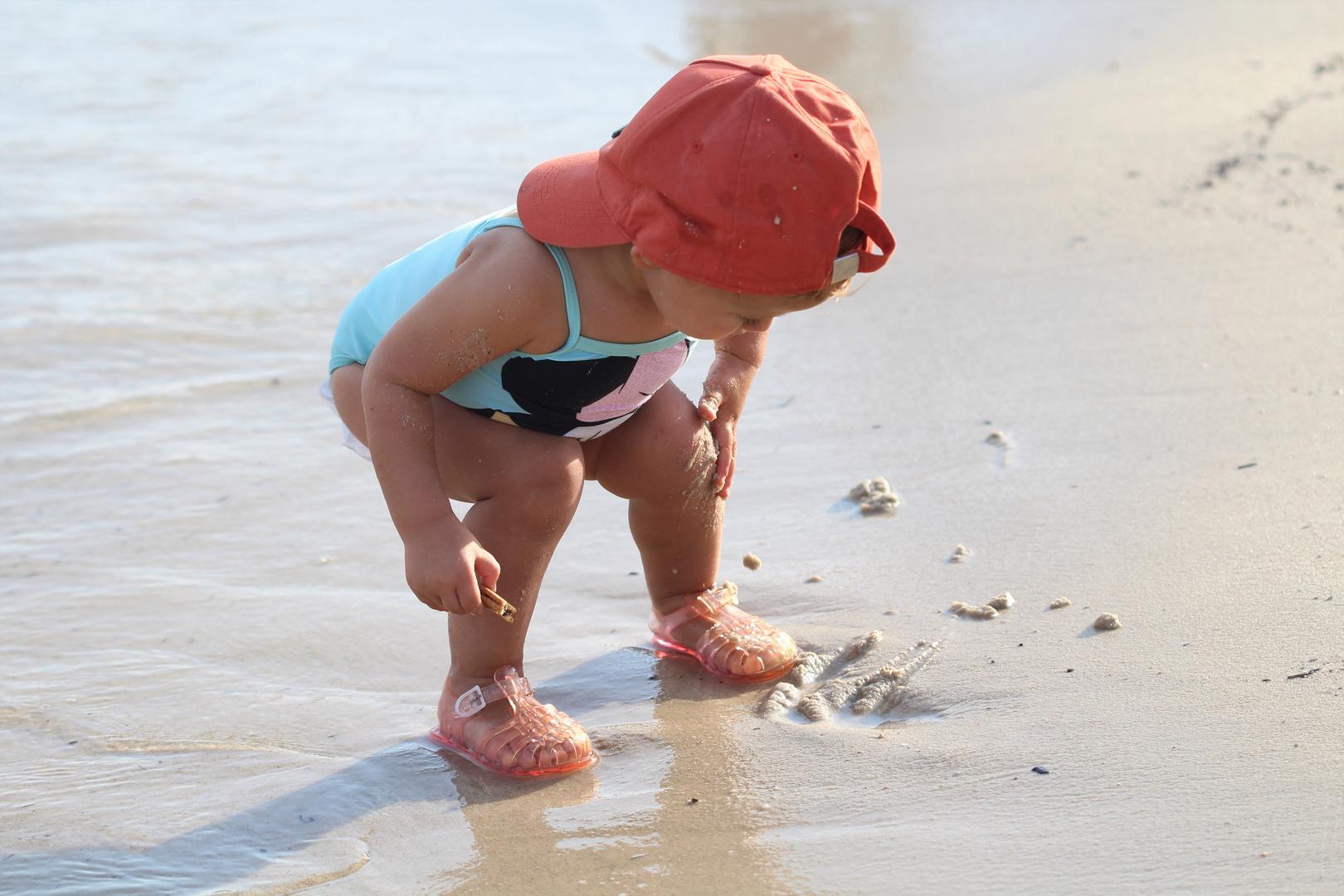 L'enfant à la plage