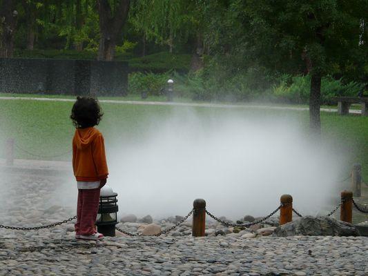 l'enfant et l'eau - chaoyang park - Beijing