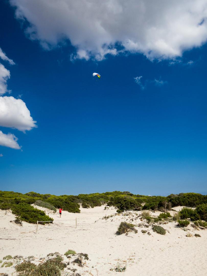 Lenkdrachen am Strand Es Trenc