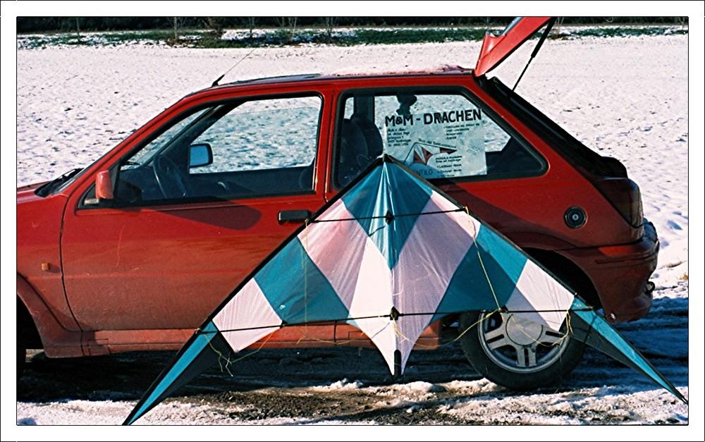 Lenkdrachen bei Schnee...