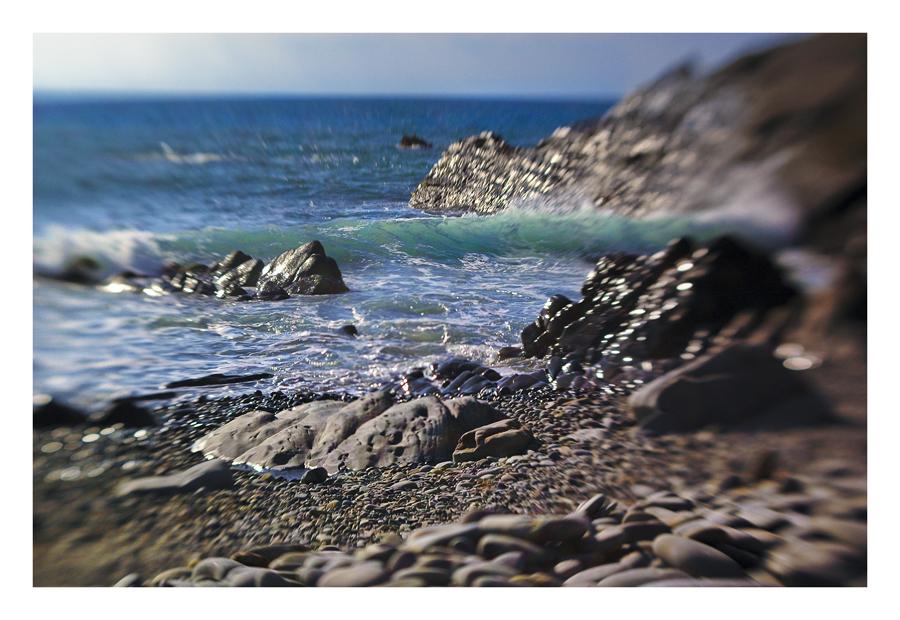 Lensbaby @ Sandymouth Beach