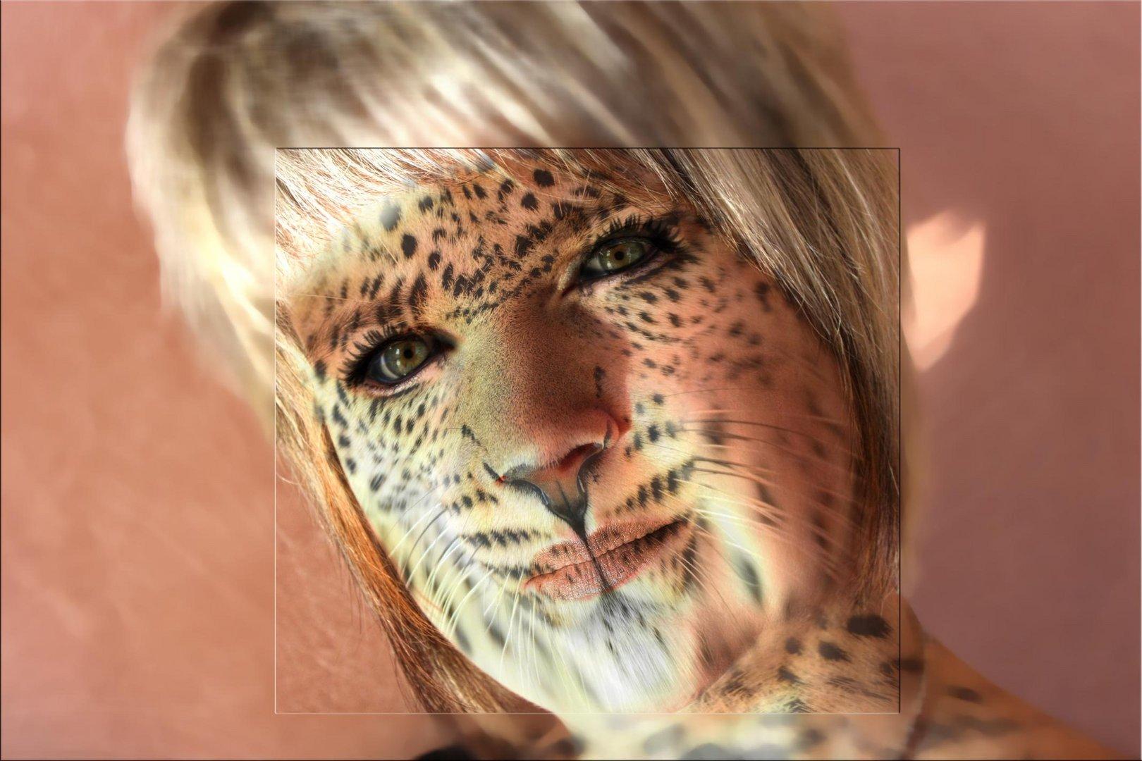 Leogirl - Portrait im Leopardenlook