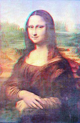 Leonardo da Vinci: Mona Lisa -3D Stereo Konversion-