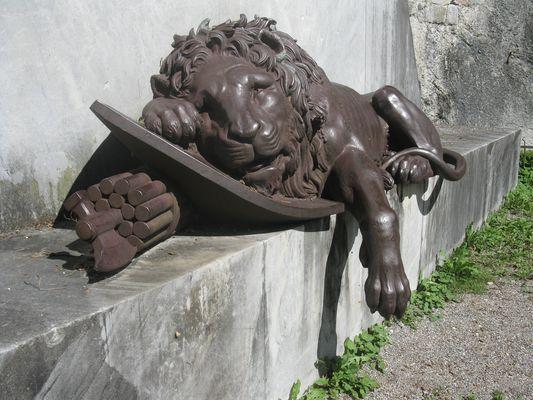 Leone morente