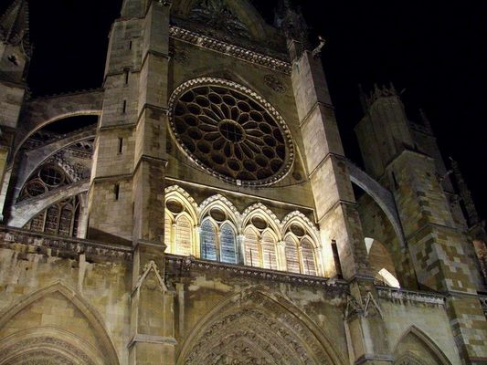 Leon´s cathedral at nigth