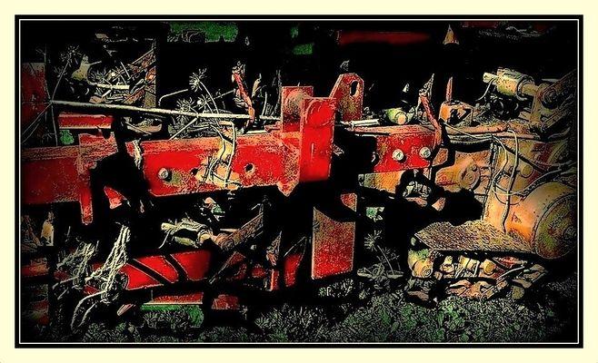 L'épave du vieux tracteur