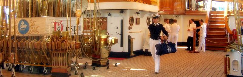 """L'équipage sur l' """"Amerigo Vespucci"""""""