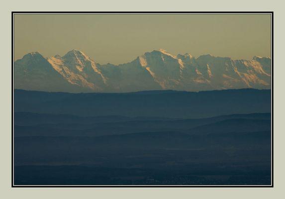 Les Alpes depuis les Vosges