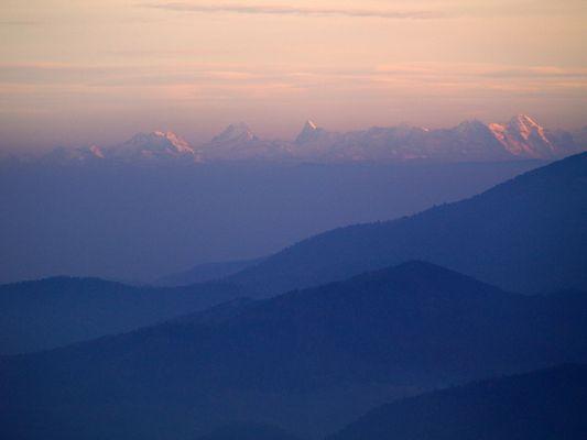 les alpes vu du grand Ventron