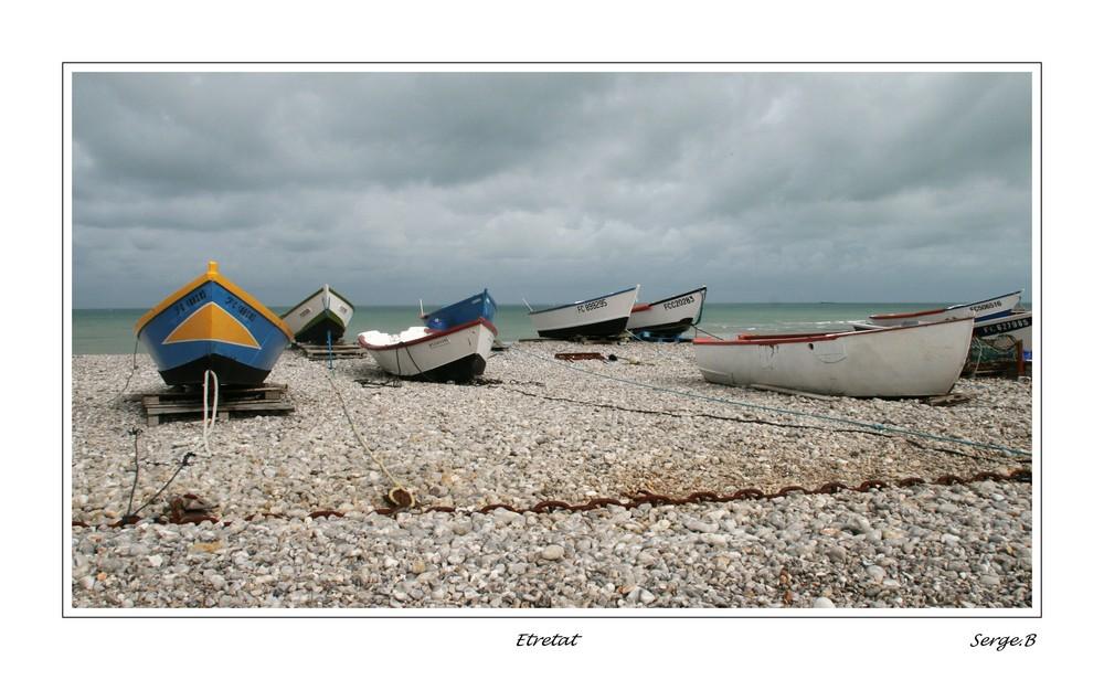 Les barques d'Etretat