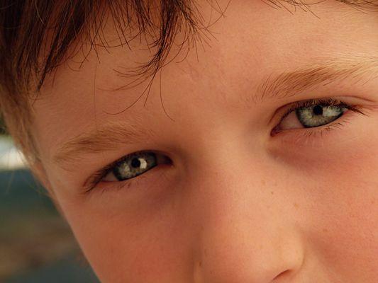 les beaux yeux bleu