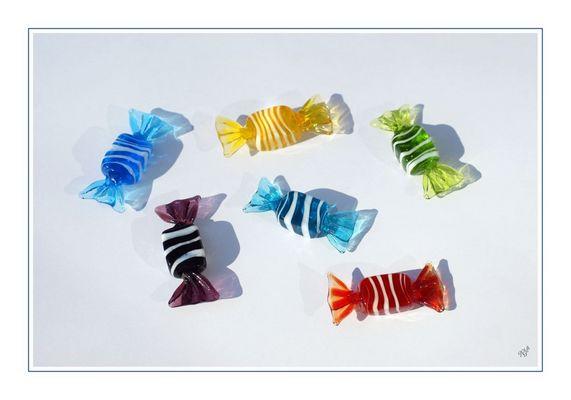 les bonbons..... en verre de Murano