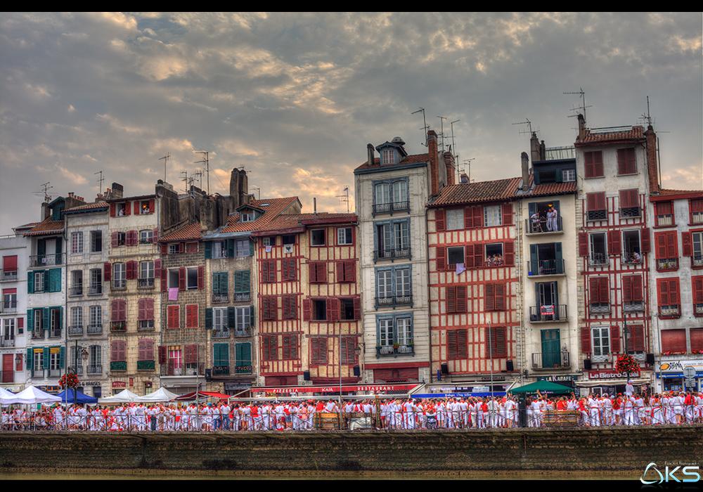 Les bords de la Nive // Fêtes de Bayonne 2014