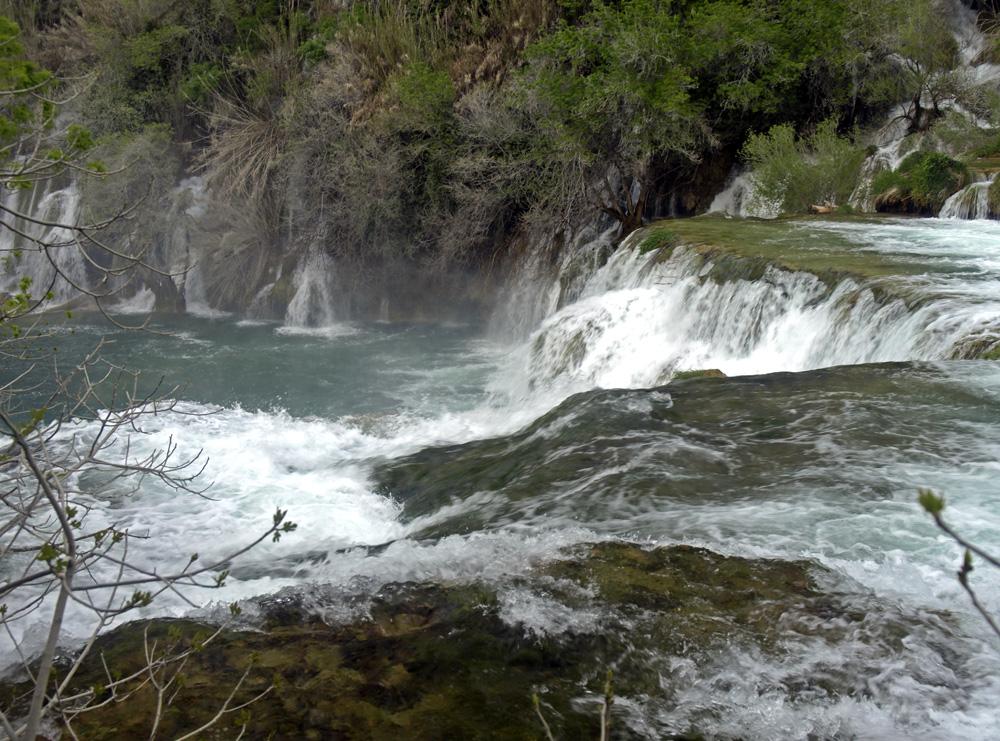 Les cascades du fleuve Krka ...