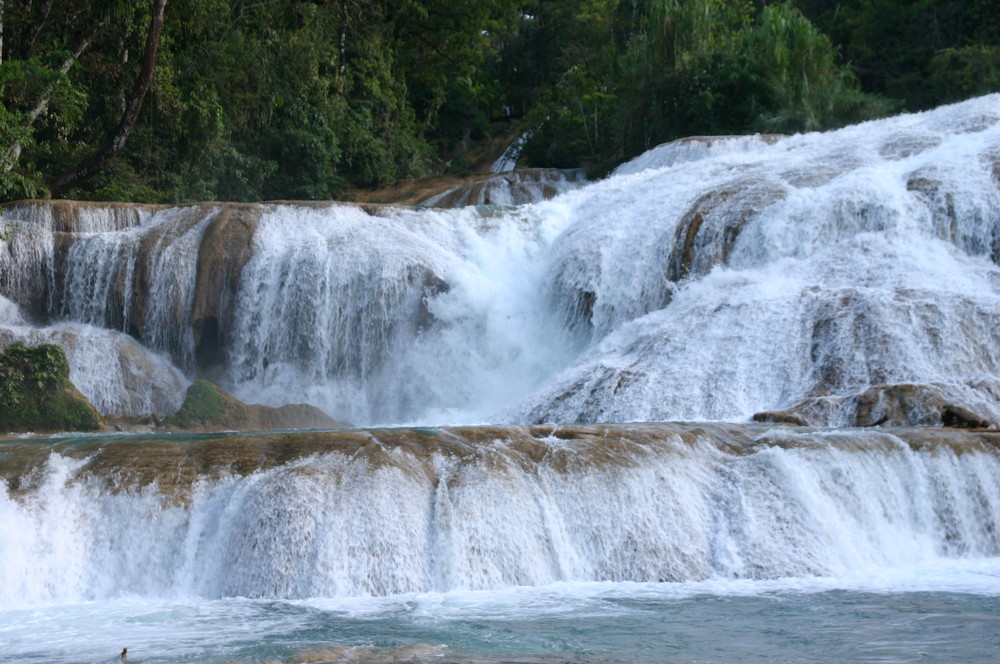 les chutes d'aguazul au mexique