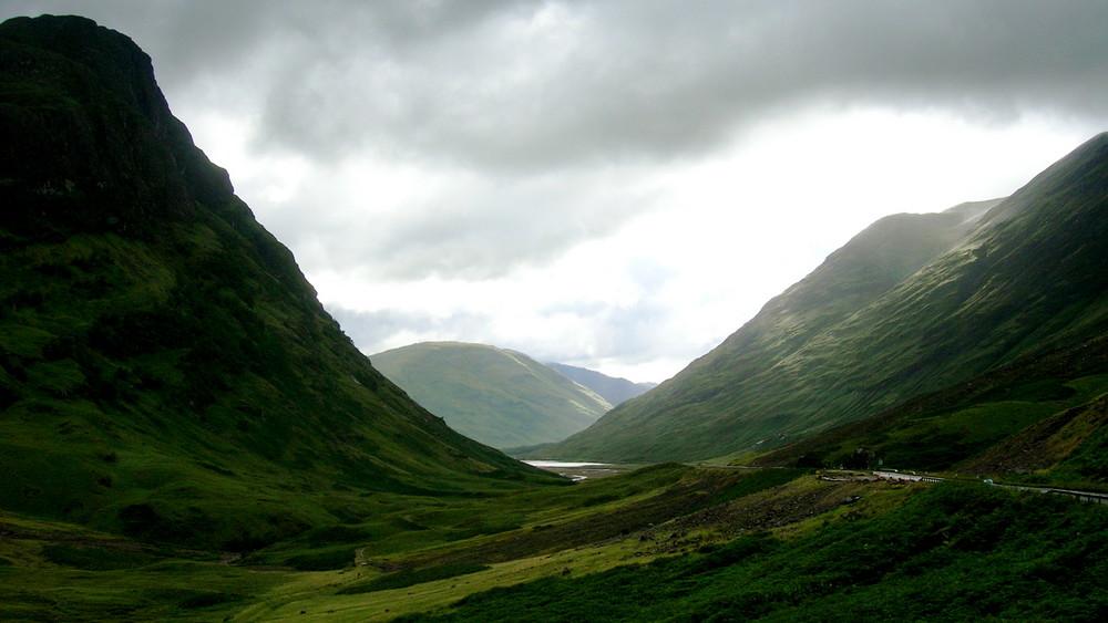 Les collines d'Écosse