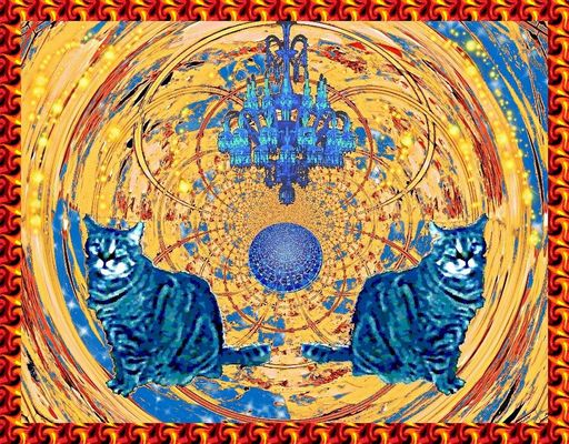 les deux chats bleus