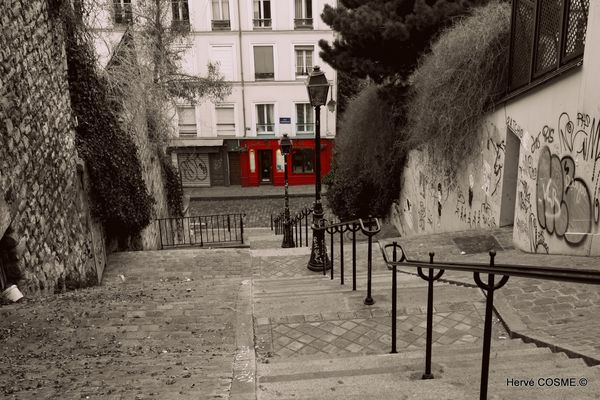 Les escaliers...