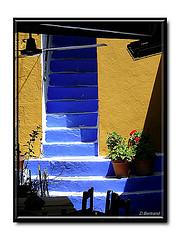 les escaliers bleu de Symi