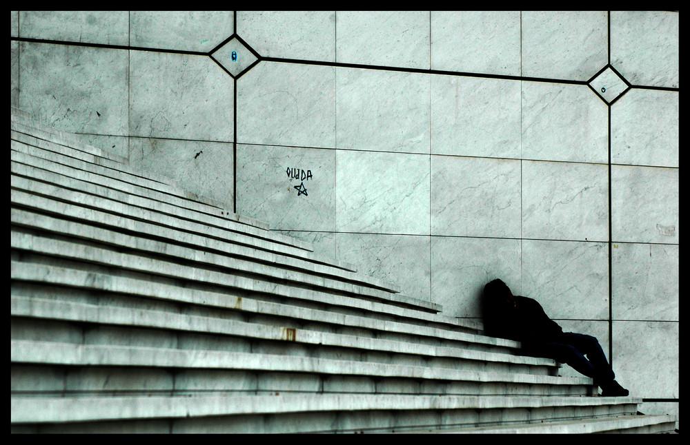 Les escaliers de la Défense.