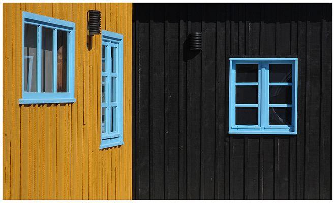 Les fenêtres bleues.