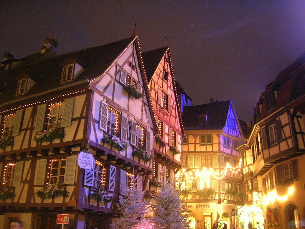Les illuminations de la ville de Colmar à Noël