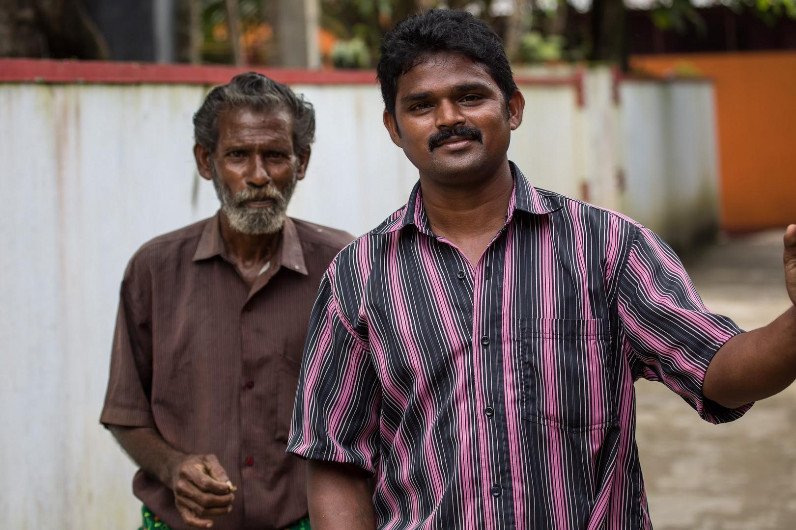 Les Indiens du Sud aiment être photographiés : ici deux éboueurs