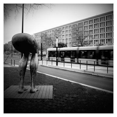 Les Jambes regardent passer les tramways
