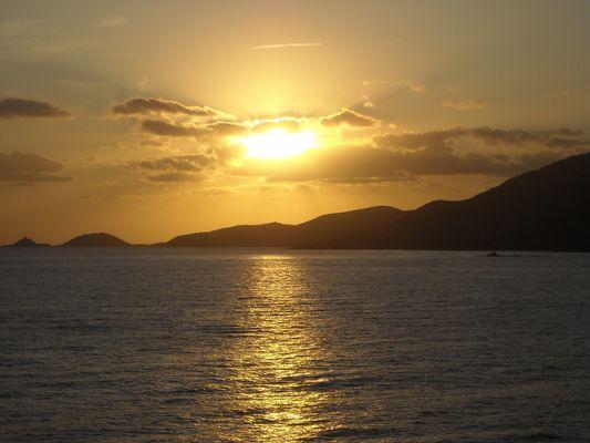 les îles saguinaires + tard..