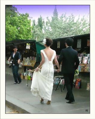 Les mariés aussi aiment les bouquinistes...