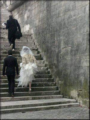 Les mariés et leur photographe...