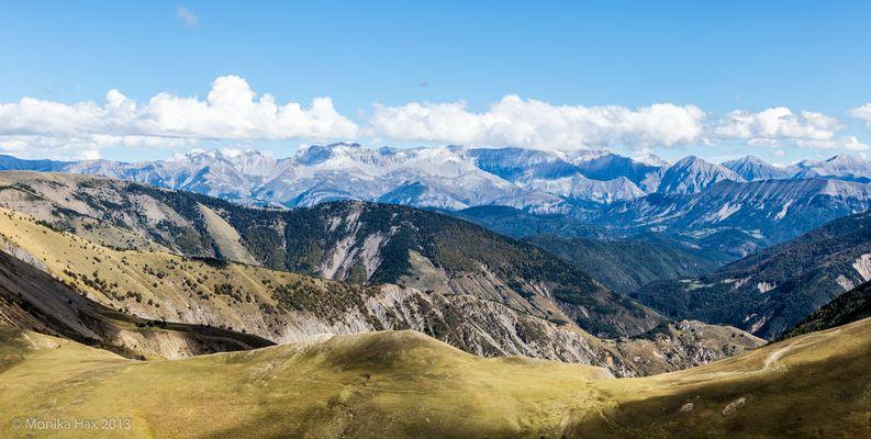 Les Monges - Blick auf die französischen Alpen