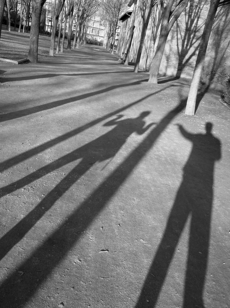 les ombres se couchent avec le soleil