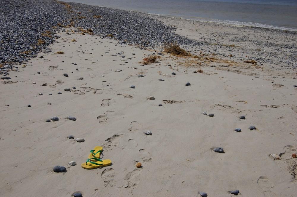 les pieds dans le sable...