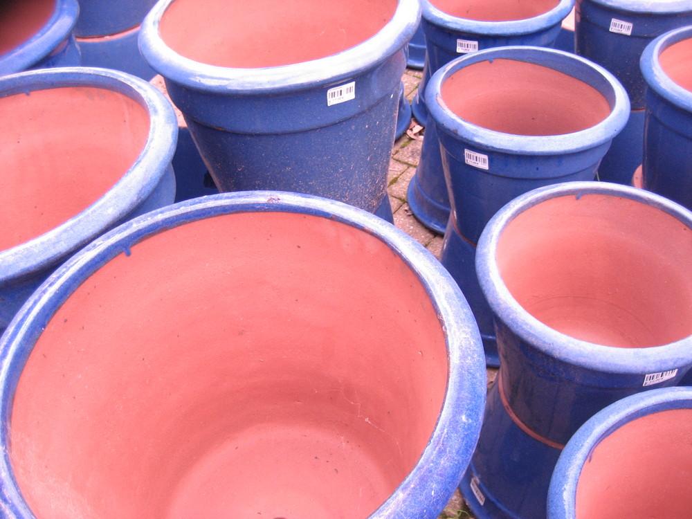 Les pots bleus