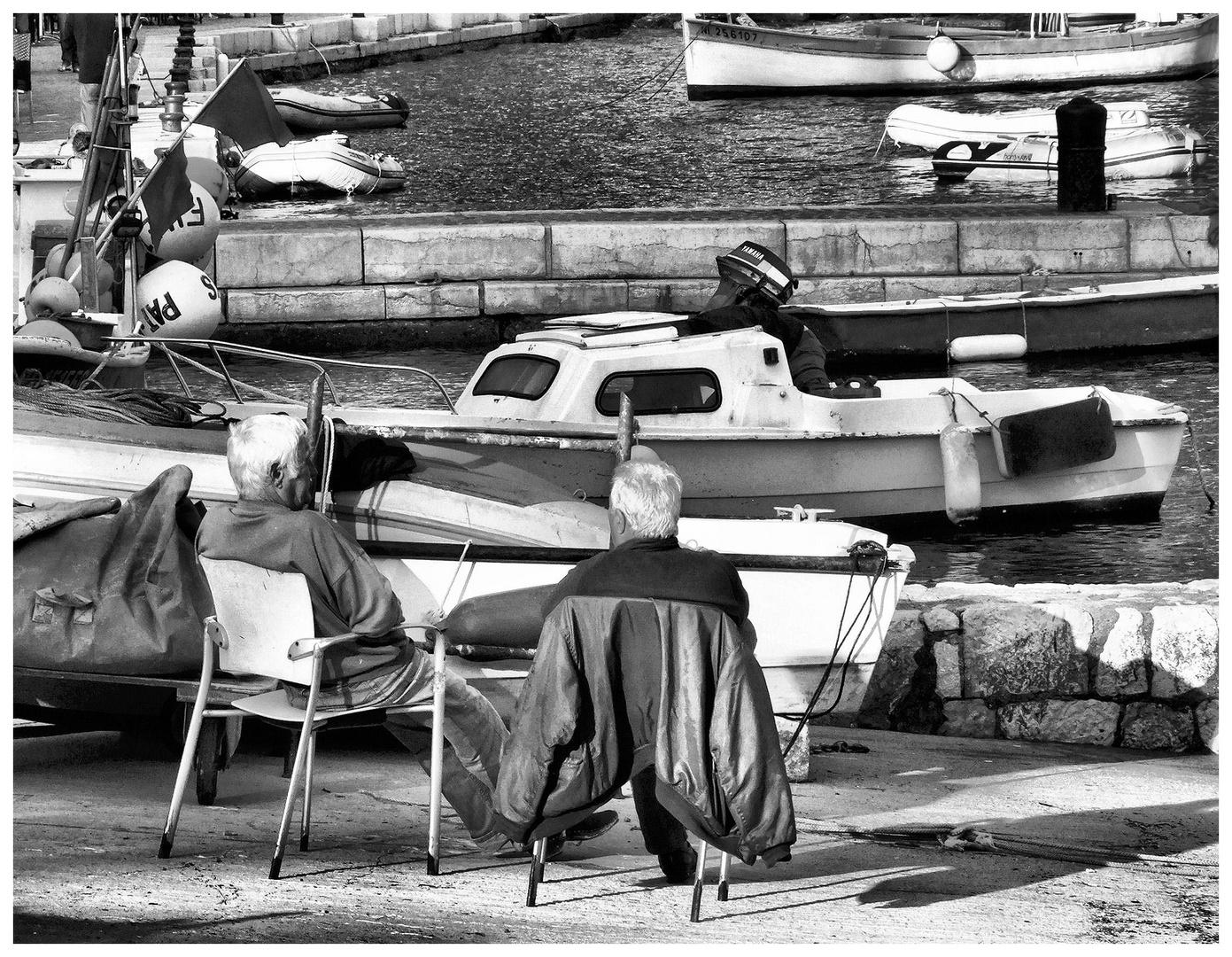 Les retraités du port...