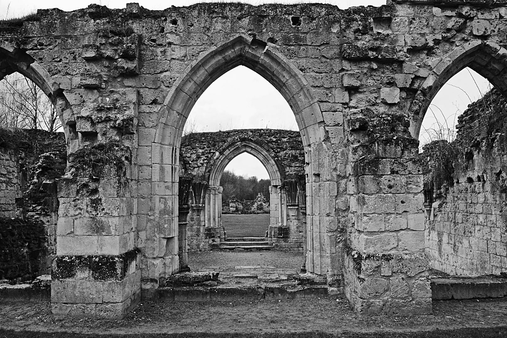 les ruines de l'abbaye de Vauclair 2, Aisne