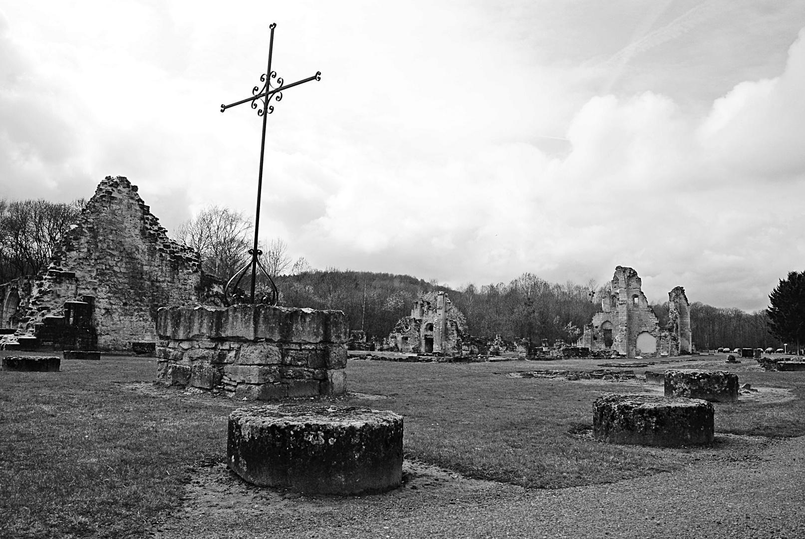 les ruines de l'abbaye de Vauclair, Aisne