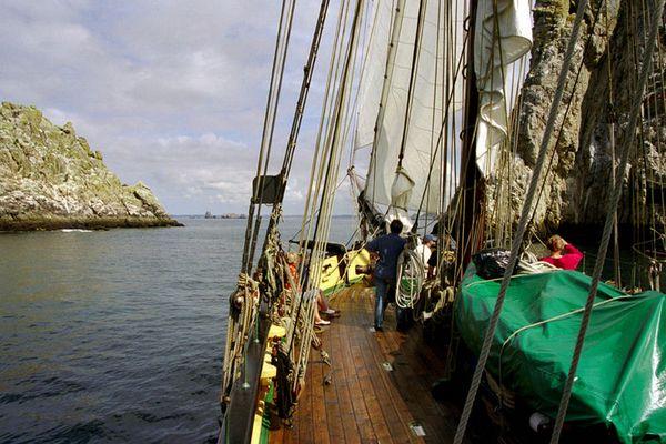 Les Tas de Pois vus de La Recouvrance - Presqu'île de Crozon