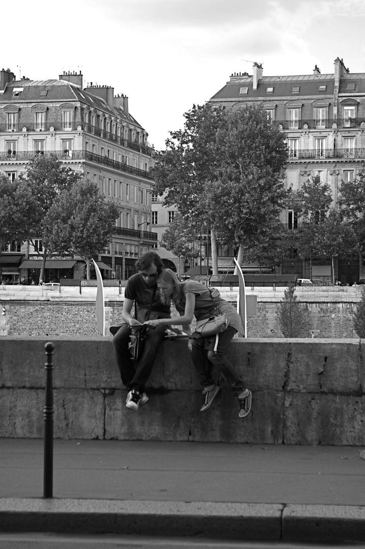 Les touristes du bord de Seine