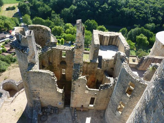 Les vestiges du château....